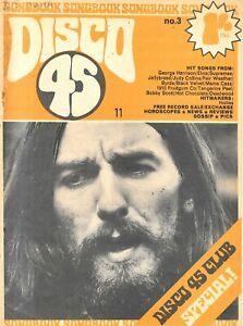 vintage disco 45 lyric paper No 3 Jan 1971 George Harrison cover