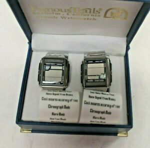 Casio World Time Wave Ceptor 3054 WV-59A set of 2 Atomic Wristwatch
