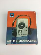 Vintage ri 2030 AM FM Stereo Receiver w/Leather Case & Headset in original box