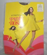 "Vintage Stretch Pantyhose 100% Nylon Suntan One Size Fits 5'- 5'8"" 100-160lbs"