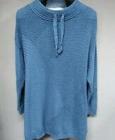 New Directions Studio Curvy Womens Mock Neck Sweater Moody Blue Plus Size 2X NWT