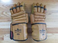 Rare 1950s COOPER WEEKS Made in Canada ARMOURCLAD THUMB Hockey Pair Gloves EXC