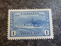 CANADA POSTAGE STAMP SG388 $1 BLUE LIGHTLY MOUNTED MINT