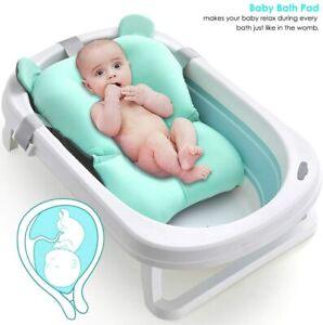 Baby Bath Pad Non-Slip Bathtub Mat NewBorn Safety Security Bath Seat Support UK