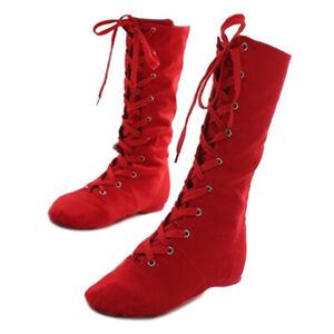 High Top Jazz Boots Practice Dance Shoes Modern Latin Women Men Kids Children