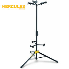 NEW Hercules GS432B Durable Triple Guitar Stand with Auto Grab - Black