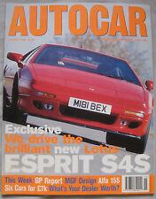 AUTOCAR 12/4/1995 featuring Lotus Esprit S4S, Maserati Quattroporte, Alfa Romeo