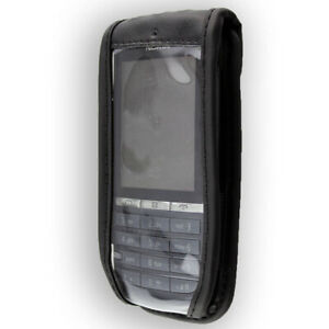 Smartphone Case for Nokia Asha 300 Leather-Case with belt clip Protective Cover