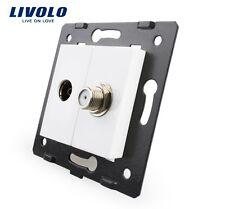 Einsatz TV + Sat Livolo  Socket VL-C7-1VST-11 weiß