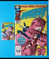 Daredevil #181 Key Issue Death of Elektra Comic and Magnet. Excellent Condition!