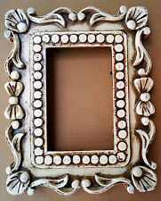 Wooden Photo Frame Hand Carved Unique Design Picture Collectible Art