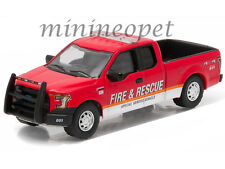 GREENLIGHT 29839 2015 FORD F-150 FIRE & RESCUE SPECIAL SERVICE VEHICLE 1/64 RED
