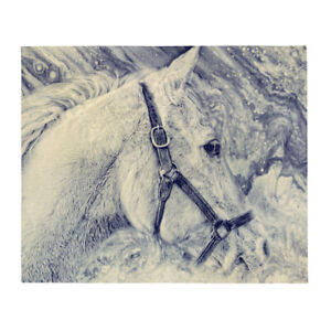 Horse in the Storm Throw Blanket