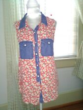 VGUC Nollie Sleeveless Button up Floral print Collared 100% Rayon Top sz S P-6
