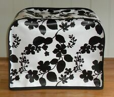 Black Floral Vinyl Cover for Kenwood Chef Food Mixers