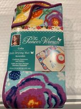 New listing The Pioneer Woman Dish Drying Mat Reversible 18 X 24 Inches In Celia Design Htf