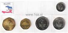 HAITI SET 1995 / 2003 - 5 coins ( 5, 20, 50 CENTIMES + 1, 5 GOURDES ) UNC