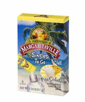 Margaritaville Singles To Go Water Drink Mix - Pina Colada Flavored,
