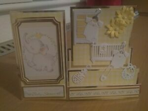 Handmade A5 BABY SHOWER card (unisex)