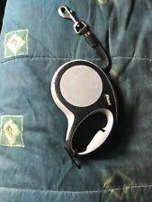FLEXI COMFORT 16' Retractable TAPE Leash BLACK/GREY