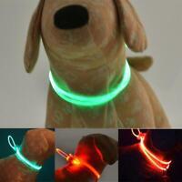 LED Pet Collar Luminous Adjustable Pet Safety Collars Water Resistant Flashing