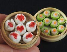 1:6 Dollhouse Miniatures Pork Steamed Dumplings Chinese Food Deco Barbie Blythe