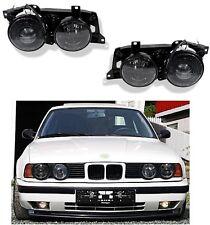 BMW 5-ER REIHE E34 1987-1995 SCHEINWERFER SATZ IN SCHWARZ FRONTSCHEINWERFER NEU