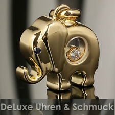 🎀*Chopard Anhänger Happy Diamonds*Elefant*750er Gold*Briliant*Saphir*TOP*