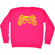 Why Waste Good Technology On Science SWEATSHIRT jumper game funny birthday gift