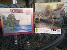 Lot Of Two Jigsaw Puzzles Thomas Kinkade.