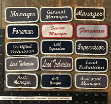 LOT OF 15 VINTAGE NAME TAG PATCHES #3