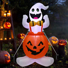 Sizonjoy 12 FT Halloween Decoration Inflatable Ghost, Blow Up Animated Red Eyes