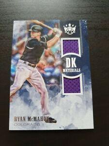 Ryan McMahon 2018 Panini Diamond Kings Baseball Patch Card MLB Rockies
