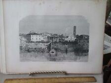 Vintage Print,CLOACA MAXIMA ON TIBER,Rome,Francis Wey,1872