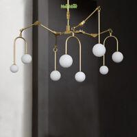 Modern Adjustable Ceiling Chandelier 8 Lights  Living Room Hanging Pendant Lamp
