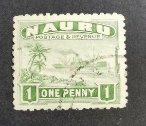 Nauru 1924-48 1d green used B1