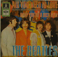 """BEATLES - ALL YOU NEED IS LOVE - BABY YOU RE A RICH MAN ODEON 23560 7"""" (J66)"""
