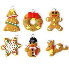6pcs Christmas Ornaments Polymer Clay Xmas Tree Decoration snowman snowflakes