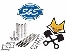 S&S STANDARD ADJUSTABLE PUSHROD KIT W/ COVERS HARLEY 1999-'17 TWIN CAM 93-5095