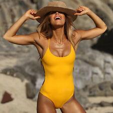 Women One Piece Push-Up Bathing Monokini Bandage V Neck Bikini Swimsuit Swimwear