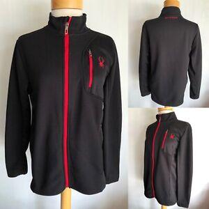 SPYDER Encore Core Fleece Lined Performance Knit Zip Jacket Sz Youth XL (18-20)