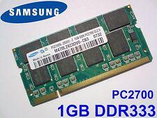 1GB PC2700 DDR333 CL2.5 SODIMM SAMSUNG NOTEBOOK LAPTOP RAM ARBEITSSPEICHER