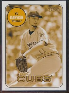 2018 Topps Heritage High Number Yu Darvish 5x7 Gold Action Image /10