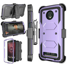 For Moto Z3 Play / Z3 Play Droid / Z Play 2018 Kickstand Belt Clip Holster Case