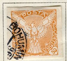 CZECHOSLOVAKIA;  1918 early Newspaper issue Imperf used 50h. value