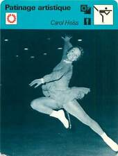 FICHE CARD: Carol Heiss USA Patinage artistique Figure skating 1970s B