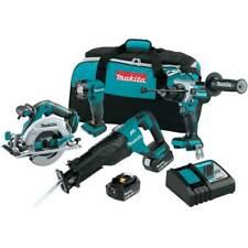 Makita Xt454t 18v Lxt Li Ion Brushless Cordless 4 Tool Combo 50 Ah Kit