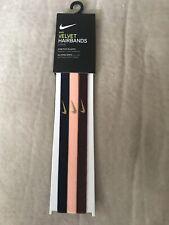 Nike Velvet Hairbands 3-pack NWT Rubber Grips