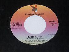 Willie Henderson:  Dance Master / instrumental   [Unplayed Copy]