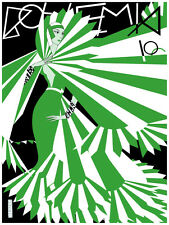 6307. Bohemia La Habana, Cuba green & white fashion Poster. Wall Art Decorative.